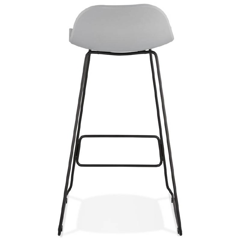 chaise bar noir tabouret de bar rouge | mhamiable