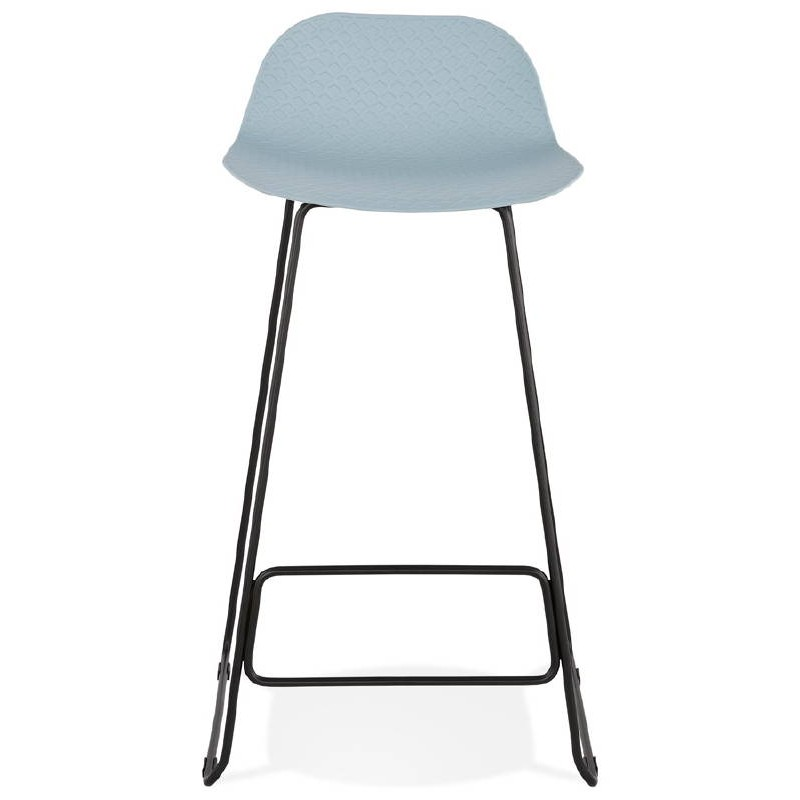 tabouret de bar chaise de bar design ulysse pieds m tal noir bleu ciel. Black Bedroom Furniture Sets. Home Design Ideas