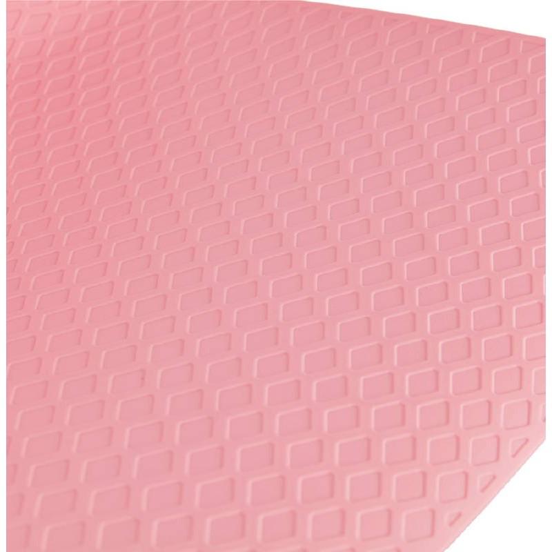 Bar taburete taburete de bar diseño metal de pies negro Ulises (polvo rosado) - image 38116