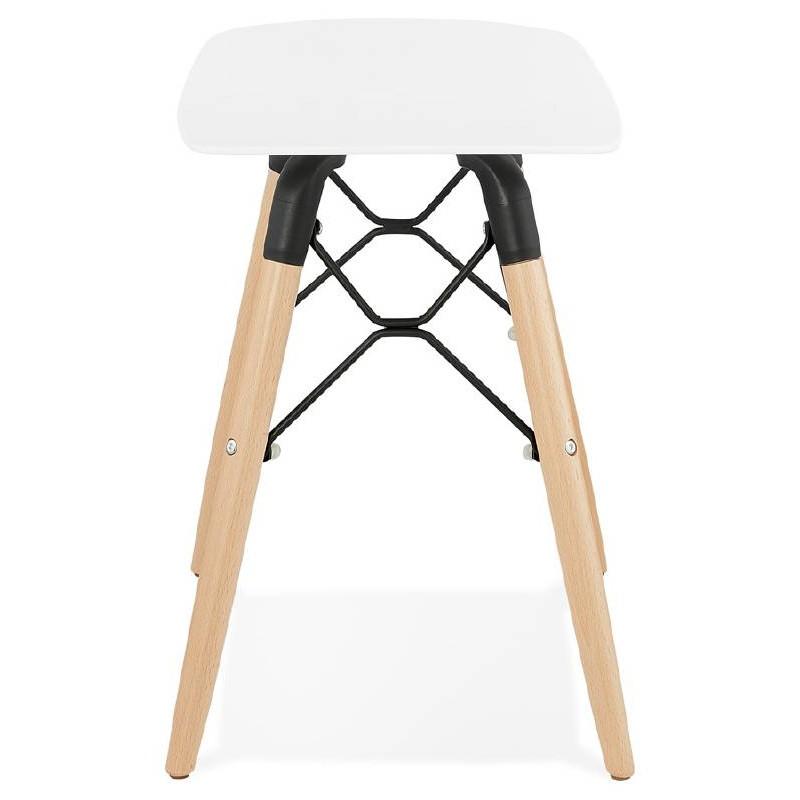 Low stool design Scandinavian GASPARD (white) - image 38126
