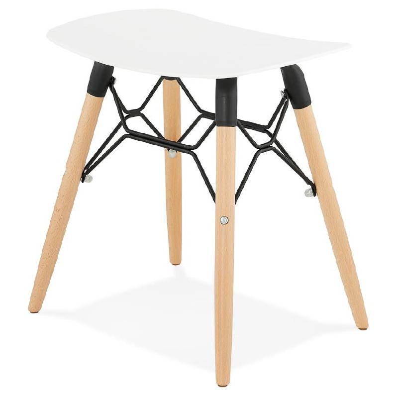 tabouret bas design scandinave gaspard blanc. Black Bedroom Furniture Sets. Home Design Ideas