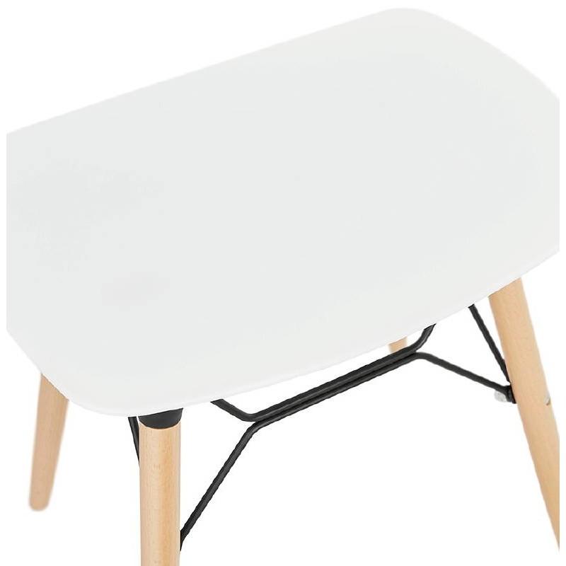 Tabouret bas design scandinave GASPARD (blanc) - image 38128