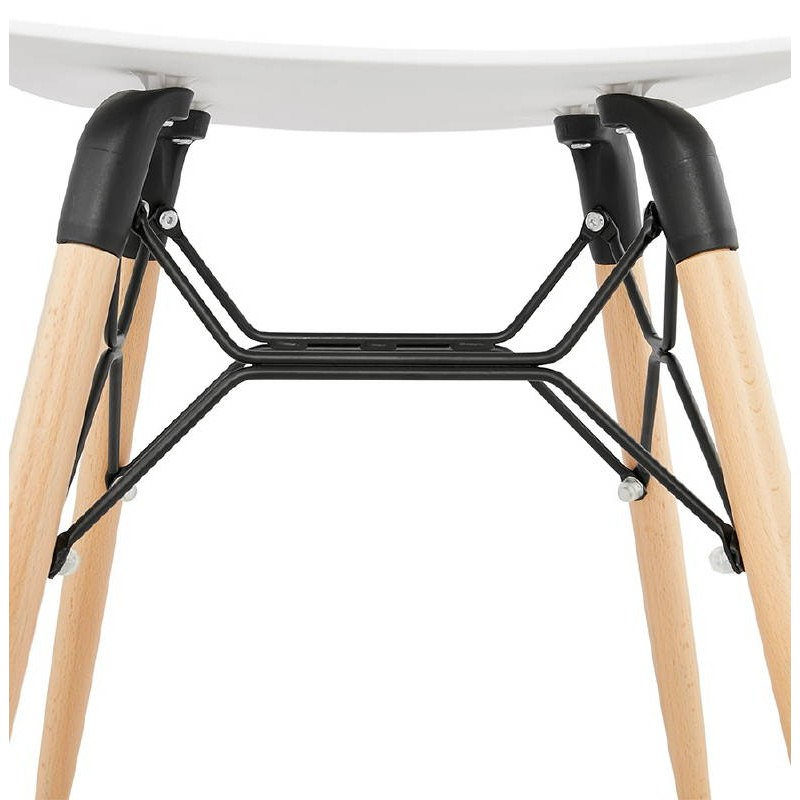 Low stool design Scandinavian GASPARD (white) - image 38130
