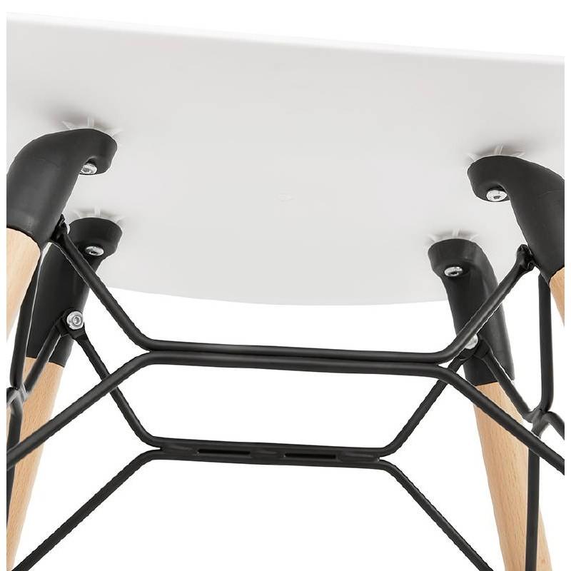Low stool design Scandinavian GASPARD (white) - image 38133