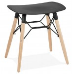Low stool design Scandinavian GASPARD (black)
