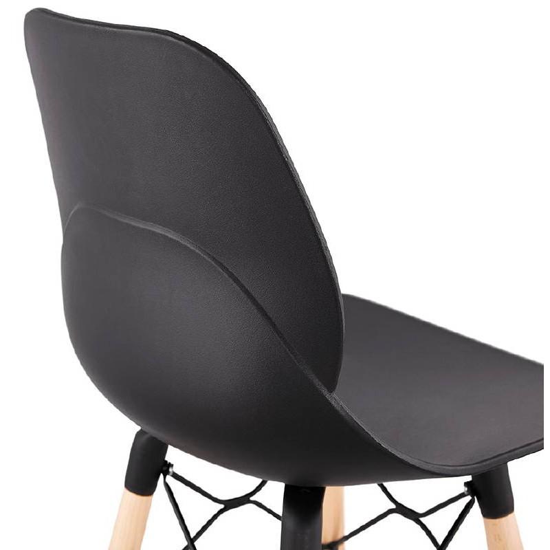 La barra hasta la mitad taburete de la silla de PACO escandinavo (negro) - image 38160