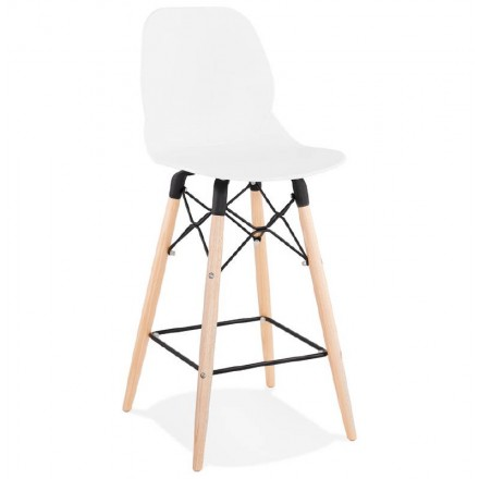 Bar bar halfway up Scandinavian PACO (white) chair stool