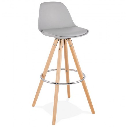 Barstool design Scandinavian OCTAVE (light gray)