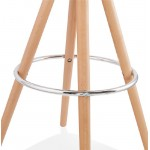 Tabouret de bar design scandinave OCTAVE (gris clair)