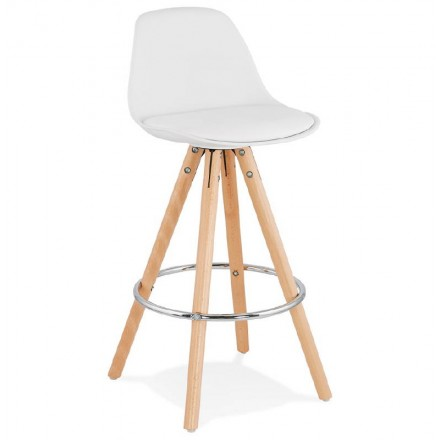 Barstool Scandinavian design half OCTAVE MINI (white)
