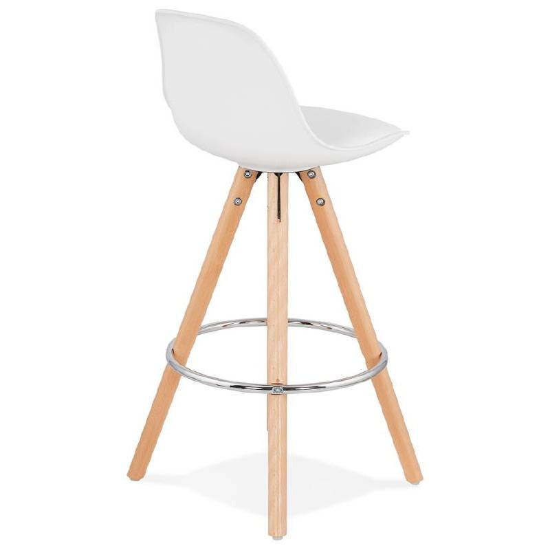 Tabouret de bar mi-hauteur design scandinave OCTAVE MINI (blanc) - image 38216