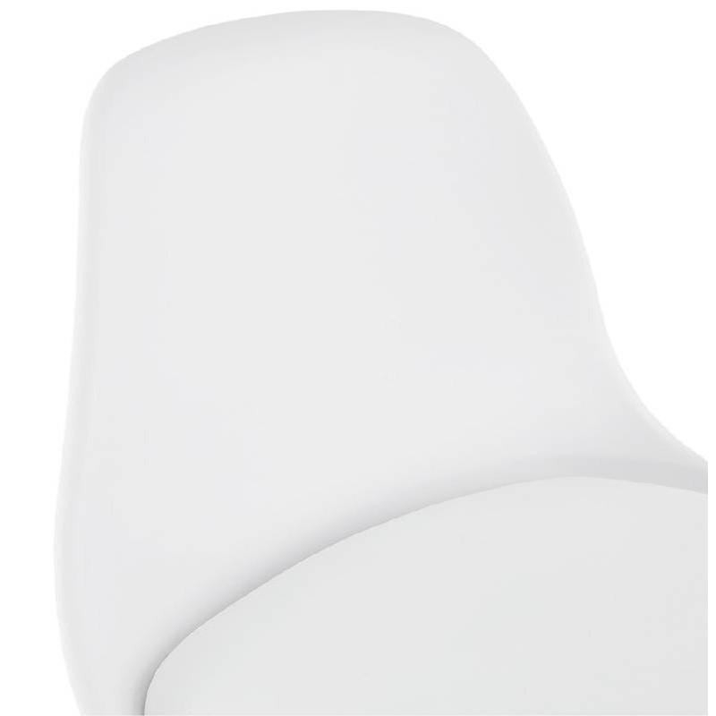 Tabouret de bar mi-hauteur design scandinave OCTAVE MINI (blanc) - image 38218