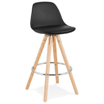 Barstool Scandinavian design half OCTAVE MINI (black)