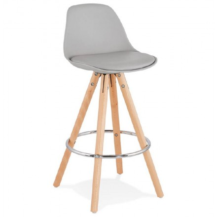 Scandinavian design half OCTAVE MINI bar stool (light gray)