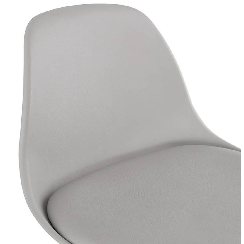 Tabouret de bar mi-hauteur design scandinave OCTAVE MINI (gris clair) - image 38246
