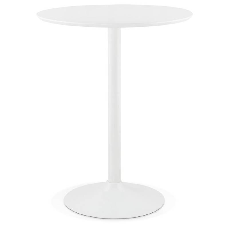 hohe hohe tisch laura design f e aus holz metall 90 cm wei. Black Bedroom Furniture Sets. Home Design Ideas