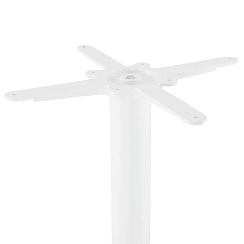 Table haute mange-debout design LAURA en bois pieds métal blanc (Ø 90 cm) (finition chêne naturel) - image 38277
