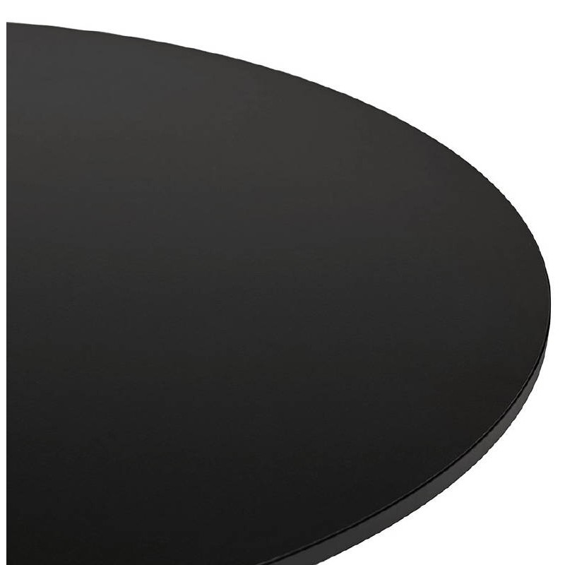 Table haute mange-debout design LAURA en bois pieds métal noir (Ø 90 cm) (noir) - image 38295