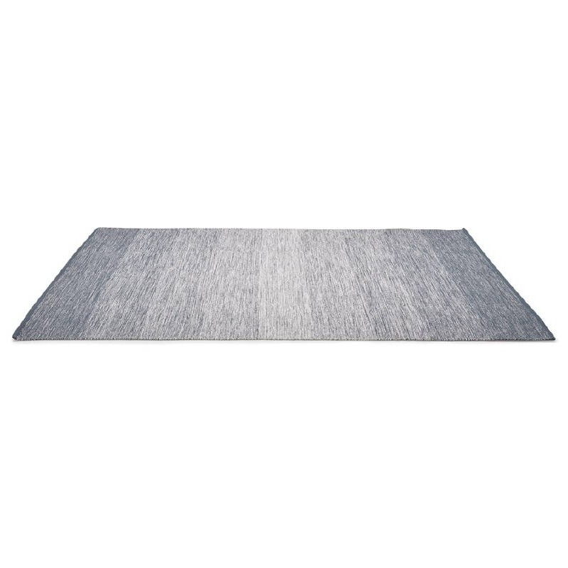 tapis design rectangulaire 230 cm x 160 cm basile en coton bleu. Black Bedroom Furniture Sets. Home Design Ideas