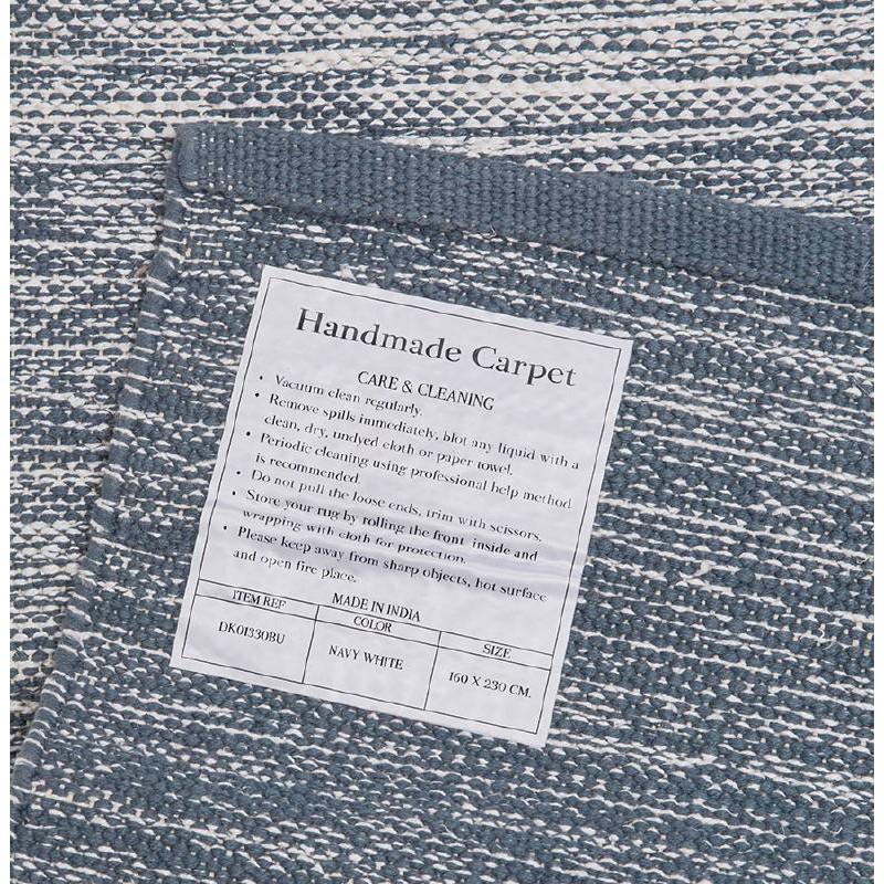 Tappeto design rettangolare (230 X 160 cm) cotone Basil (blu) - image 38516