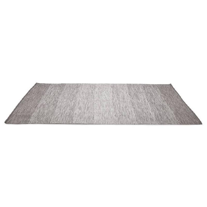 Tappeto design rettangolare (230 X 160 cm) cotone Basil (grigio) - image 38519