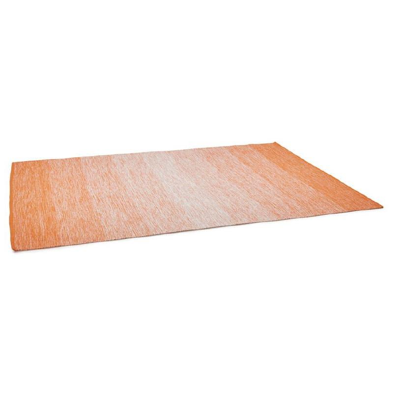 Tapis design rectangulaire (230 cm X 160 cm) BASILE en coton (orange) - image 38529