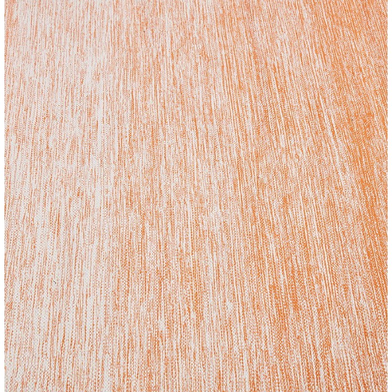 Tapis design rectangulaire (230 cm X 160 cm) BASILE en coton (orange) - image 38536