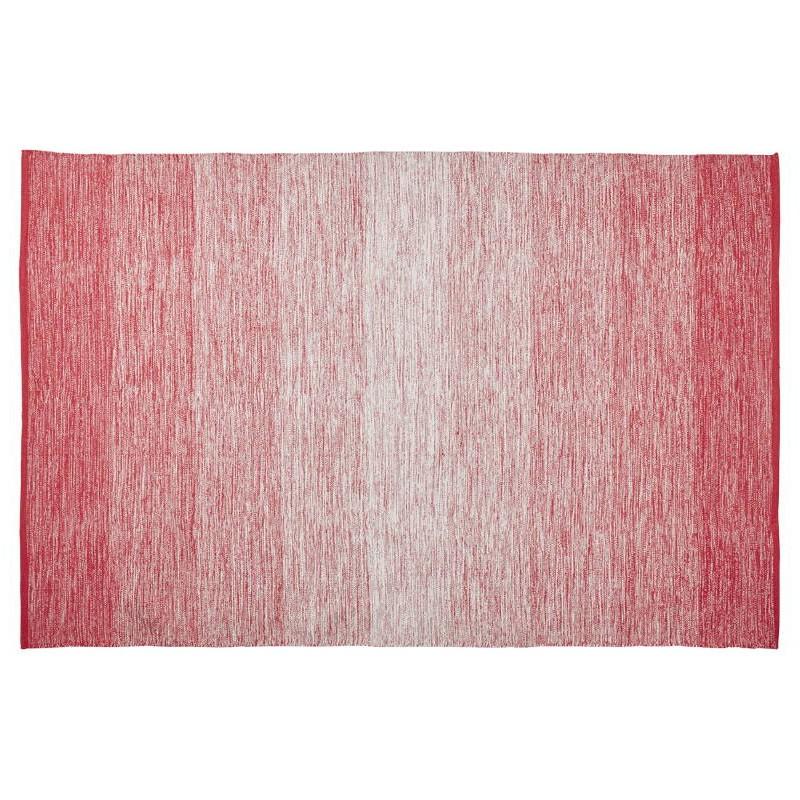 Tapis design rectangulaire (230 cm X 160 cm) BASILE en coton (rouge) - image 38539
