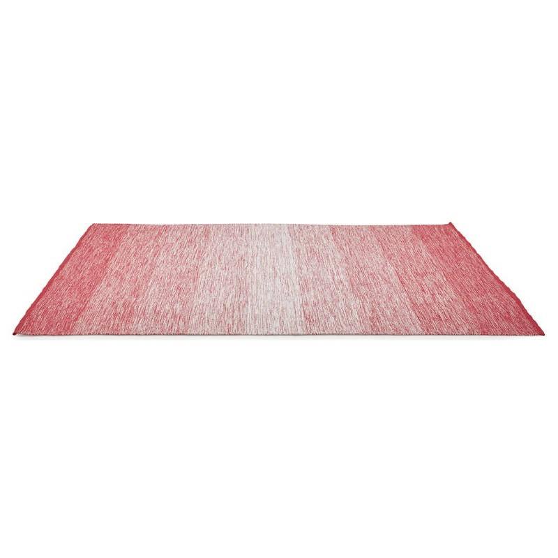 Tapis design rectangulaire (230 cm X 160 cm) BASILE en coton (rouge) - image 38541