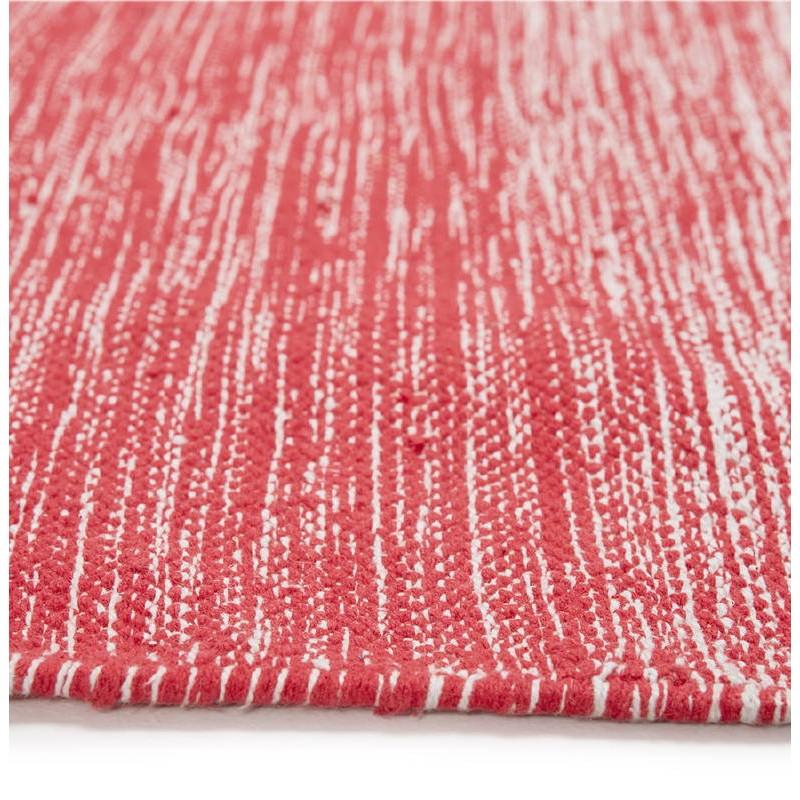 Tapis design rectangulaire (230 cm X 160 cm) BASILE en coton (rouge) - image 38544