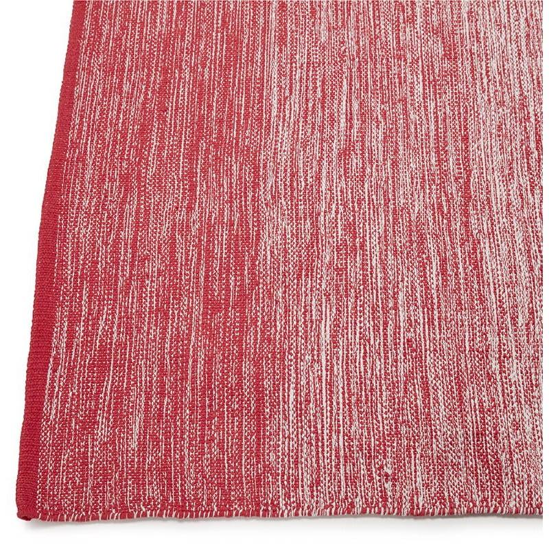 Tapis design rectangulaire (230 cm X 160 cm) BASILE en coton (rouge) - image 38546