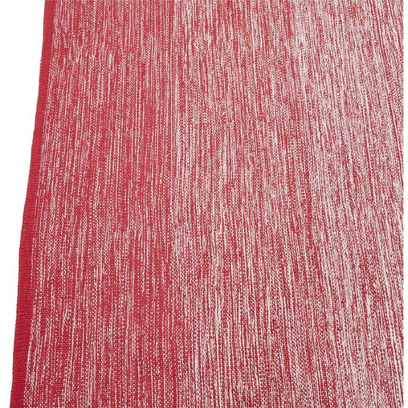 Tapis design rectangulaire (230 cm X 160 cm) BASILE en coton (rouge) - image 38547