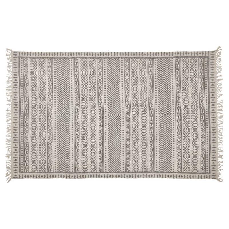 Tapis design rectangulaire style berbère (230 cm X 160 cm) CELIA en coton (gris) - image 38551