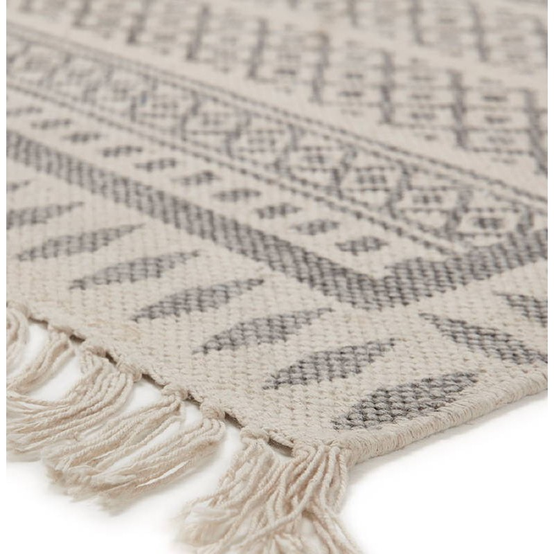 Tapis design rectangulaire style berbère (230 cm X 160 cm) CELIA en coton (gris) - image 38555