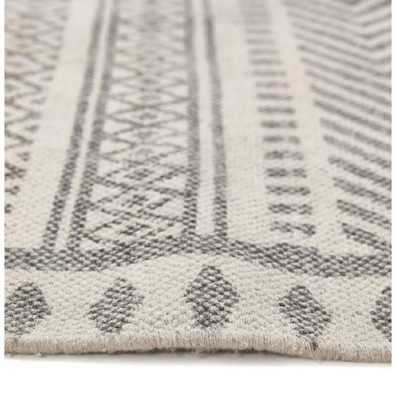 Tapis design rectangulaire style berbère (230 cm X 160 cm) CELIA en coton (gris) - image 38556