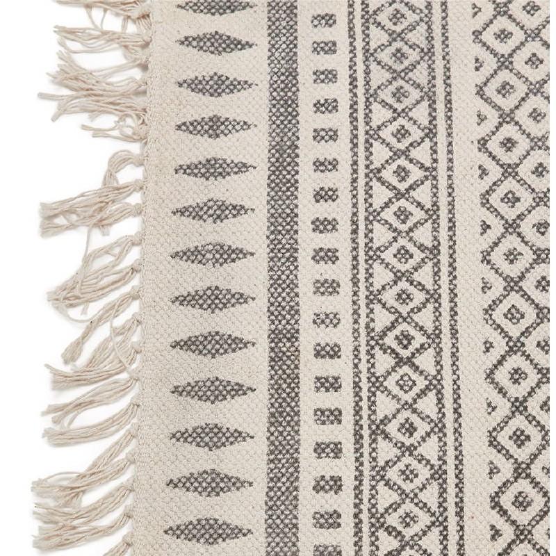 Tapis design rectangulaire style berbère (230 cm X 160 cm) CELIA en coton (gris) - image 38558
