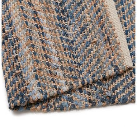 Tapis design rectangulaire (230 cm X 160 cm) BELINDA en jeans et ...