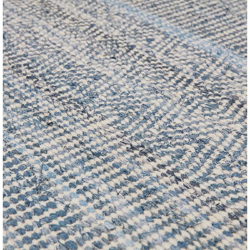 Teppich Design Rechteckig 230 X 160 Cm Balbine In Jeans Und Wolle