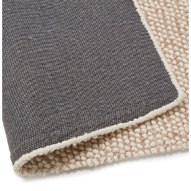 teppich design rechteckig 230 x 160 cm bader in wolle beige. Black Bedroom Furniture Sets. Home Design Ideas