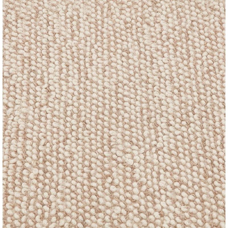 ... Teppich Design Rechteckig (230 X 160 Cm) BADER In Wolle (Beige) ...