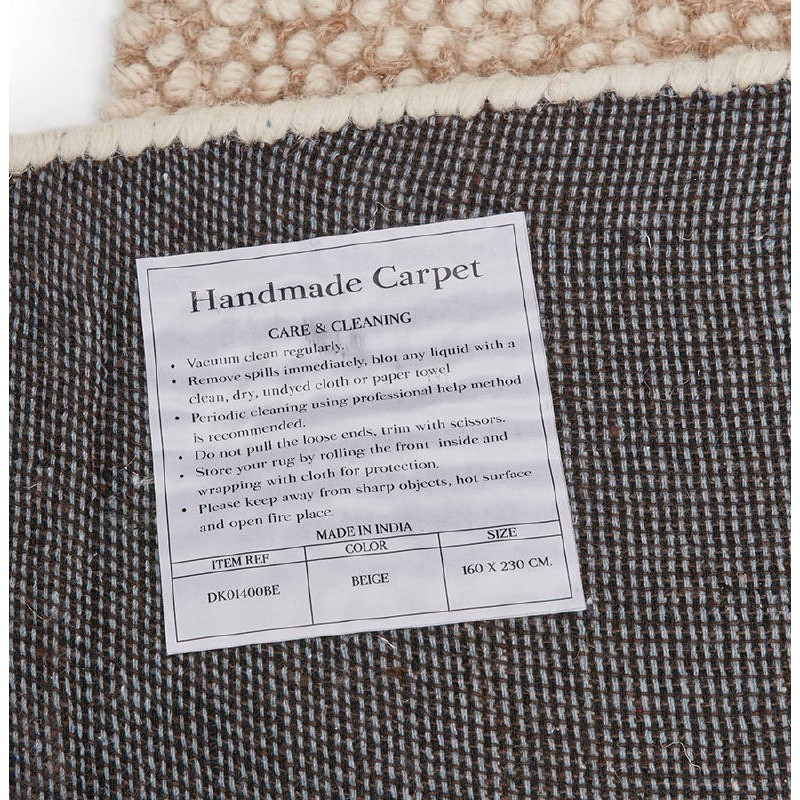 Tapis design rectangulaire (230 cm X 160 cm) BADER en laine (beige) - image 38594