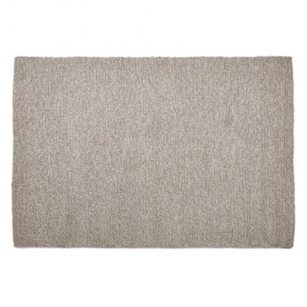 Teppich Design Rechteckig (230 X 160 Cm) BADER In Wolle (grau)