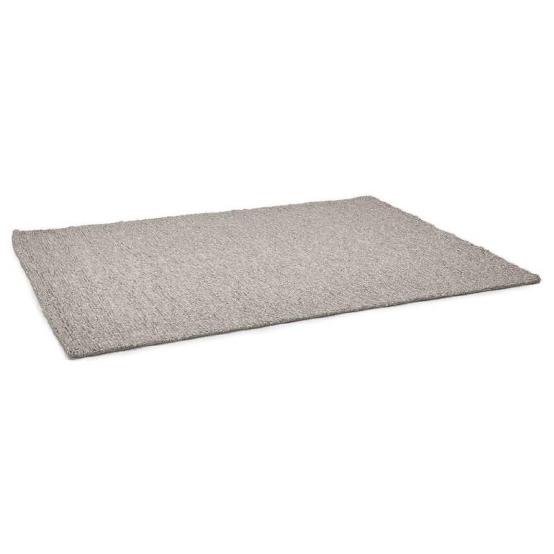 Tapis design rectangulaire (230 cm X 160 cm) BADER en laine (gris) - image 38597