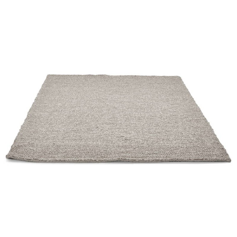 Tapis design rectangulaire (230 cm X 160 cm) BADER en laine (gris) - image 38599