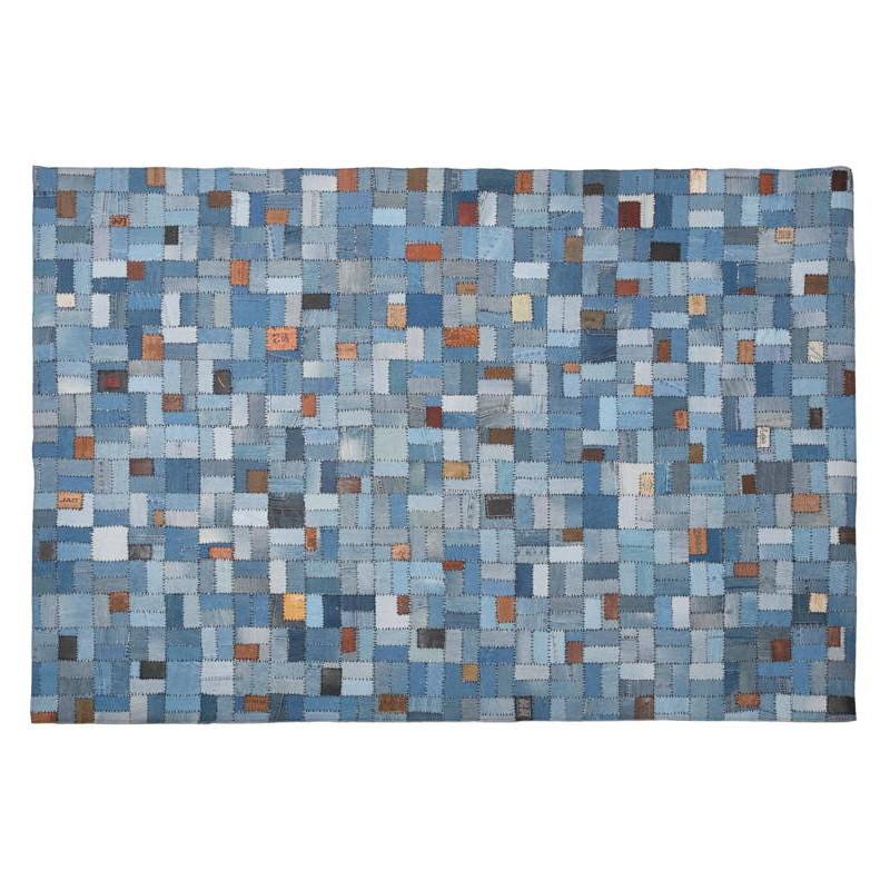 Tapis fun rectangulaire (230 cm X 160 cm) GABIE en jeans (bleu) - image 38606