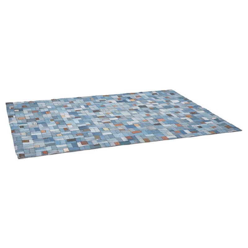 Tapis fun rectangulaire (230 cm X 160 cm) GABIE en jeans (bleu) - image 38607