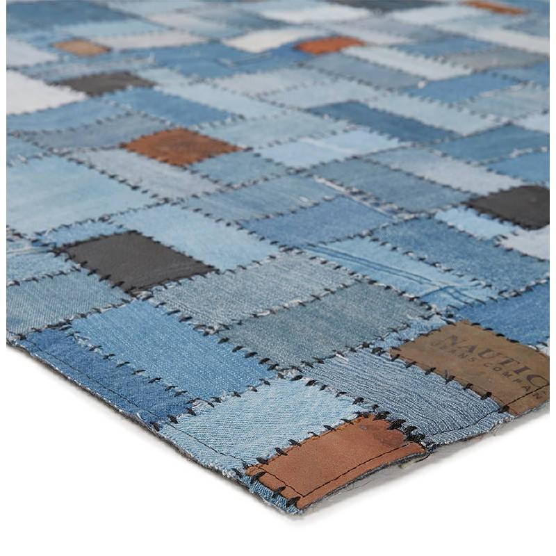 Tapis fun rectangulaire (230 cm X 160 cm) GABIE en jeans (bleu) - image 38610
