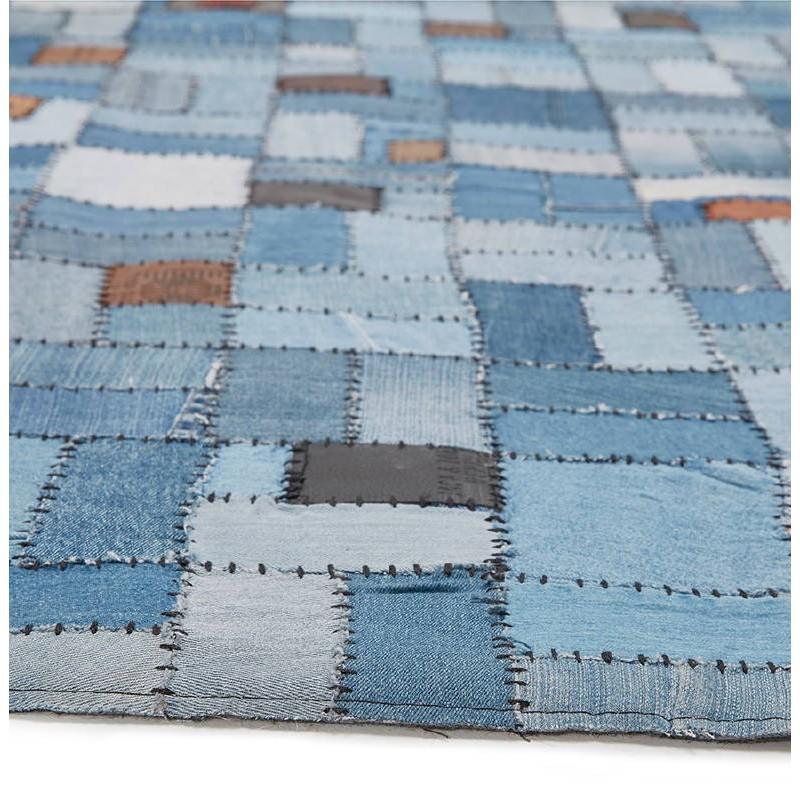 Tapis fun rectangulaire (230 cm X 160 cm) GABIE en jeans (bleu) - image 38611
