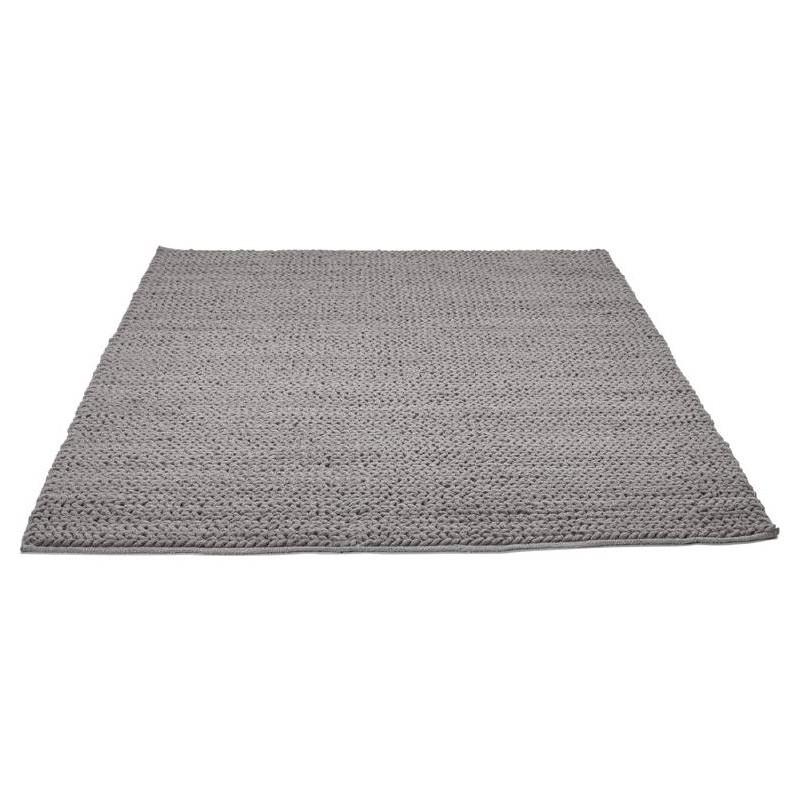 Tapis design rectangulaire (230 cm X 160 cm) TRICOT en coton (gris) - image 38622