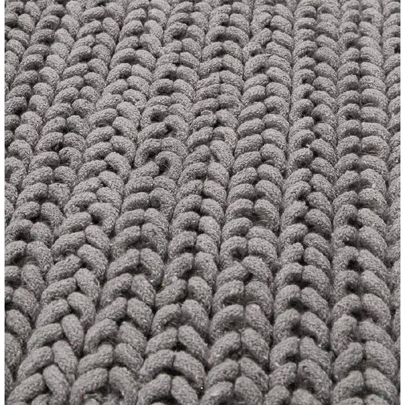 Tapis design rectangulaire (230 cm X 160 cm) TRICOT en coton (gris) - image 38627